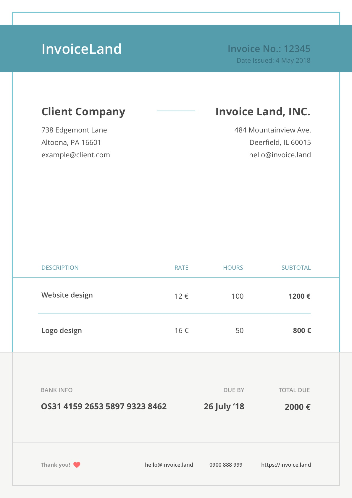 Premium Invoice Templates For Freelancers And Small Businesses Invoice Land
